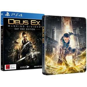 Jeu Deus Ex: Mankind Divided + Steelbook sur PS4