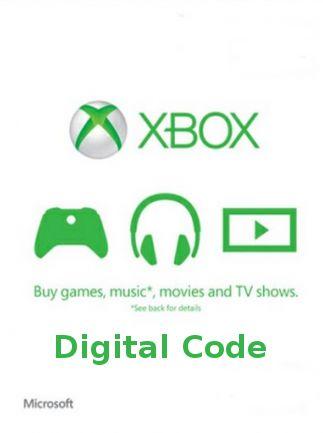 Carte cadeau Xbox Live d'une valeur de 50€ (Dématérialisé)