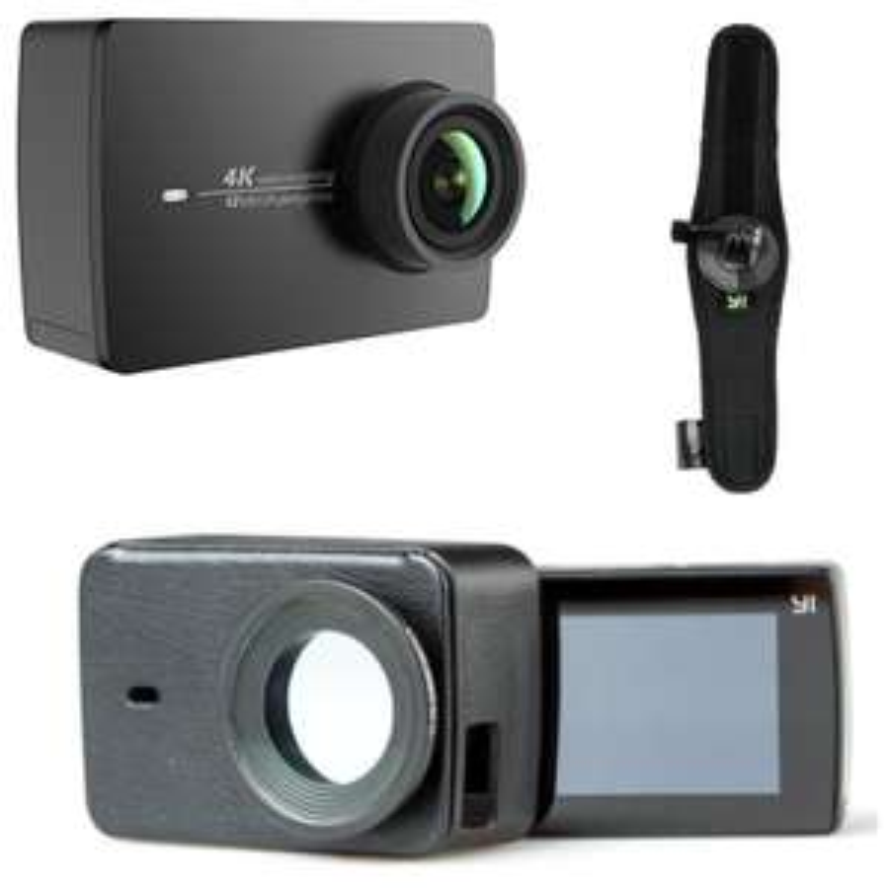 Caméra Sportive YI - 4K / 30fps, 155° + Etui en cuir + Support Poignet (vendeur tiers)