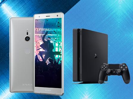 "Console Sony PS4 Slim 500Go + Smartphone 5.7"" Xperia XZ2 - 64Go (via ODR)"