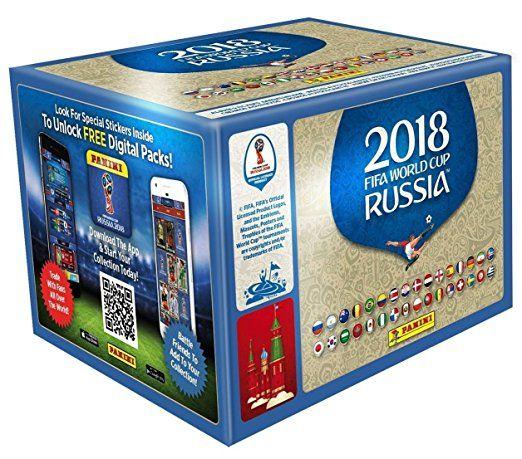 Lot de 50 sachets d'autocollants (250 pièces) Panini Fifa World Cup 2018 (vendeur tiers)