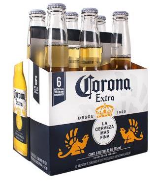 Pack de 6 bières Corona extra - Vanuxeem (Frontaliers Belgique)
