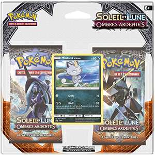 Pack de 2 Boosters Pokémon Soleil et Lune + Carte promo