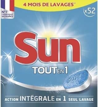1 paquet de tablettes x52 lave vaisselle sun tout en un via sur la carte fid lit. Black Bedroom Furniture Sets. Home Design Ideas