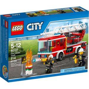 Jouet Lego City - Le camion de pompiers avec échelle (60107)
