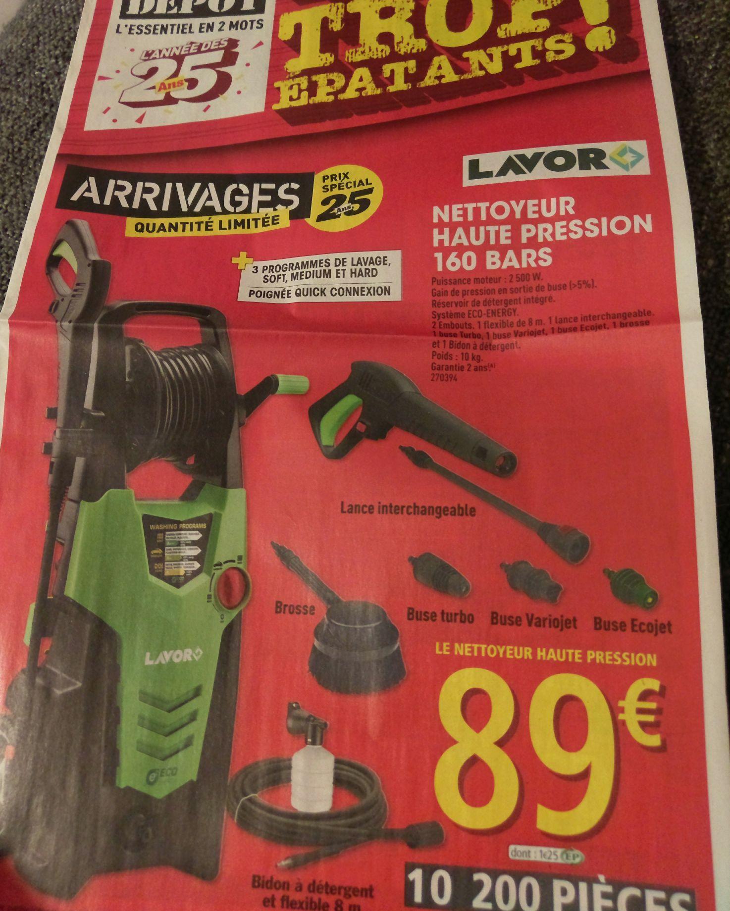 Nettoyeur haute pression Lavor - 160 bars, 2500W