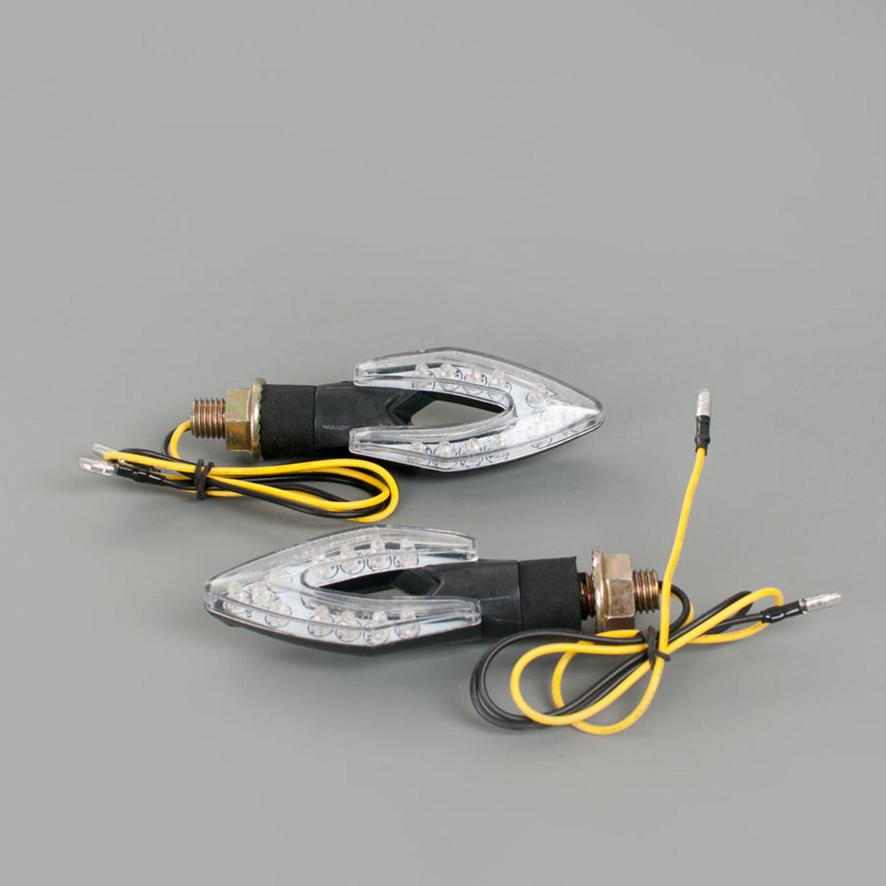 Clignotants à diodes Snell Arc LED pour moto