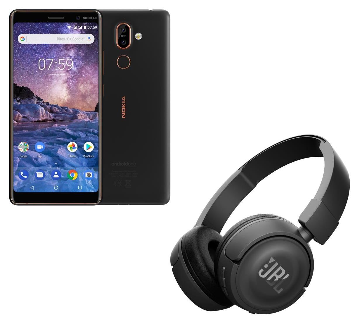 "[Cdiscount à volonté] Précommande : Smartphone 6"" Nokia 7 Plus - Android One, Full HD+, Snapdragon 660, RAM 4 Go, ROM 64 Go + Casque JBL T450BT (via formulaire)"