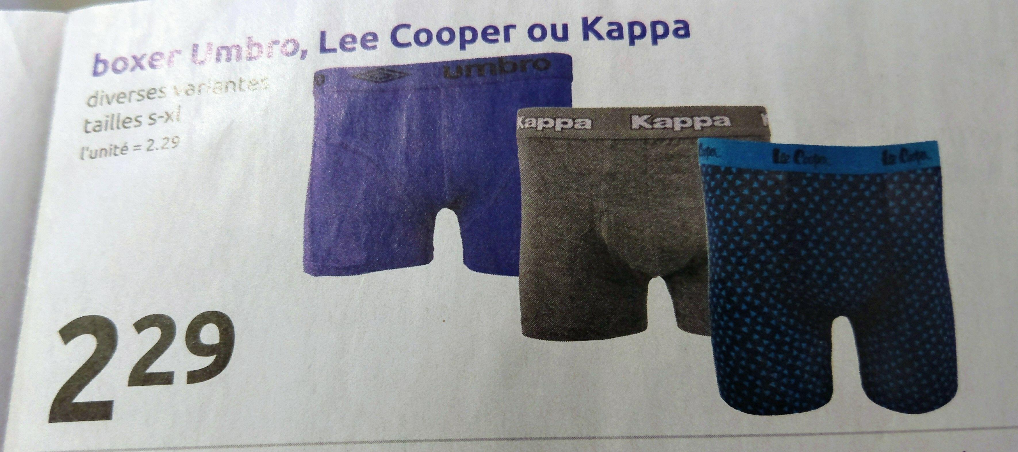 Boxer homme Lee Cooper, Umbro ou Kappa