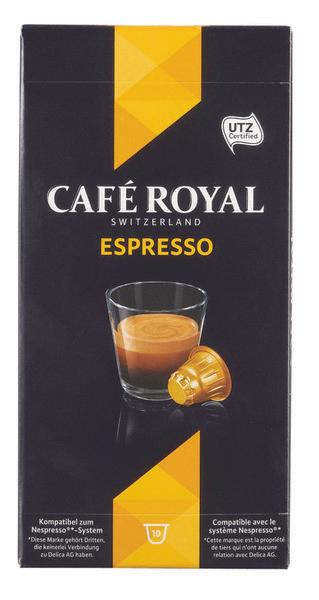 Lot de 9 boîtes de 10 capsules Café Royal (via Shopmium)