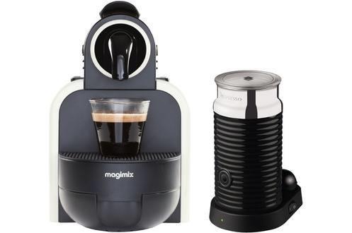Expresso Nespresso Magimix Essenza 11313 M100 Blanc + Aeroccino (avec ODR 40€)