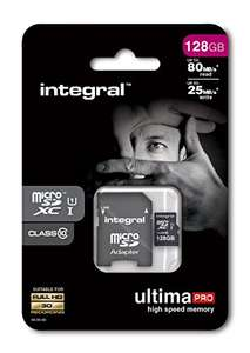 Carte Micro SDXC Integral UltimaPro (80 Mo/s) - 128 Go avec adaptateur SD (Vendeur tiers - MyMemory)