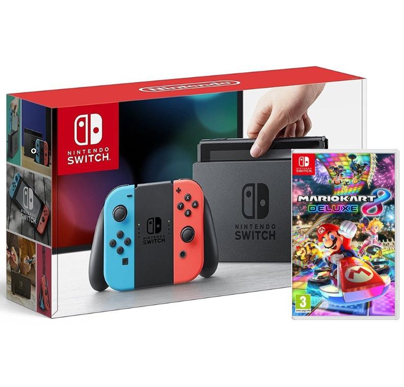 Pack console Nintendo Switch (avec Joy-Con bleu / rouge) + Mario Kart 8 Deluxe