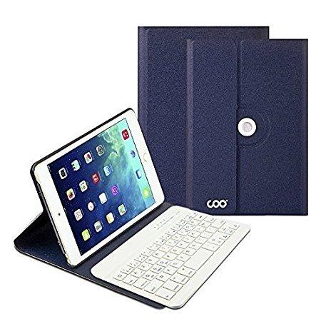 Ensemble Clavier Bluetooth Protection pour iPad Mini 1/2 - Bleu foncé (vendeur tiers)