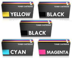 Pack de 5 toners compatibles Imprimante laser couleur Dell C1760NW