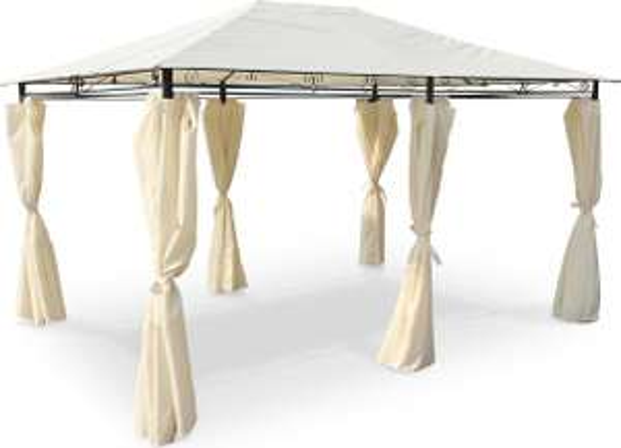 Sélection de tonnelles / pergolas Alice's Garden en promotion - Ex : tonnelle avec rideaux Nicae - 3x4 m, différents coloris (vendeur tiers)