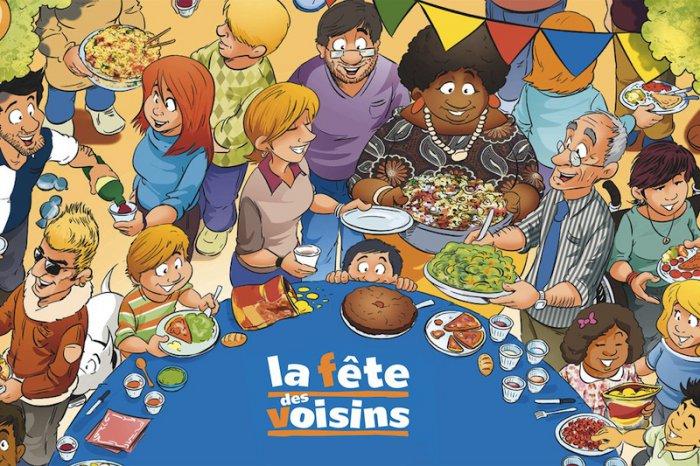 Location de biens divers gratuite pour la fête des voisins - Ex : Bancs, chaises, T-shirts, ballons, affiches, flyers - Dijon (21)