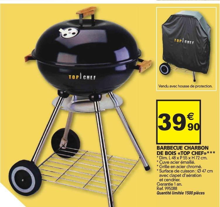 Barbecue charbon de bois Top Chef  + housse