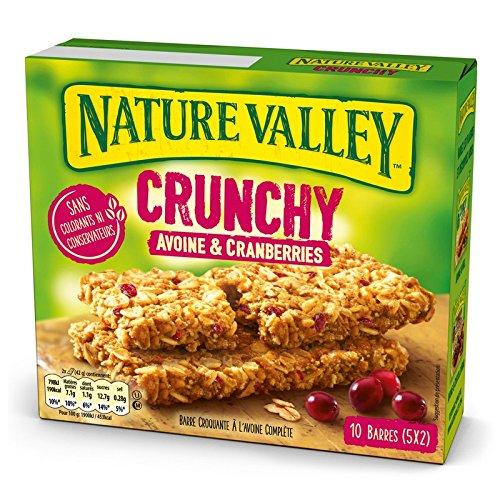 5 Paquets de 10 Barres de Céréales Nature Valley Crunchy Avoine & Cranberries