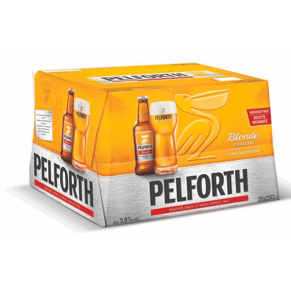 Pack de 20 Bières Blondes Pelforth - 20 x 25cl (Via Carte de Fidélité + BDR)