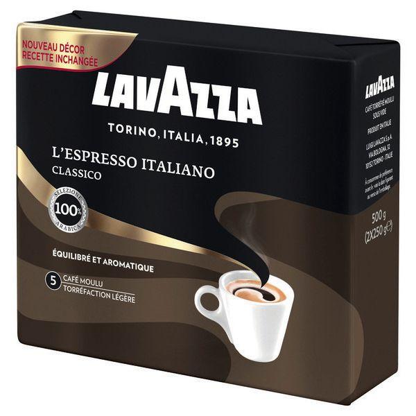 Lot de 2 paquets de Café moulu L'Espresso Italiano Classico - 2x250g (via 3.85€ fidélité)