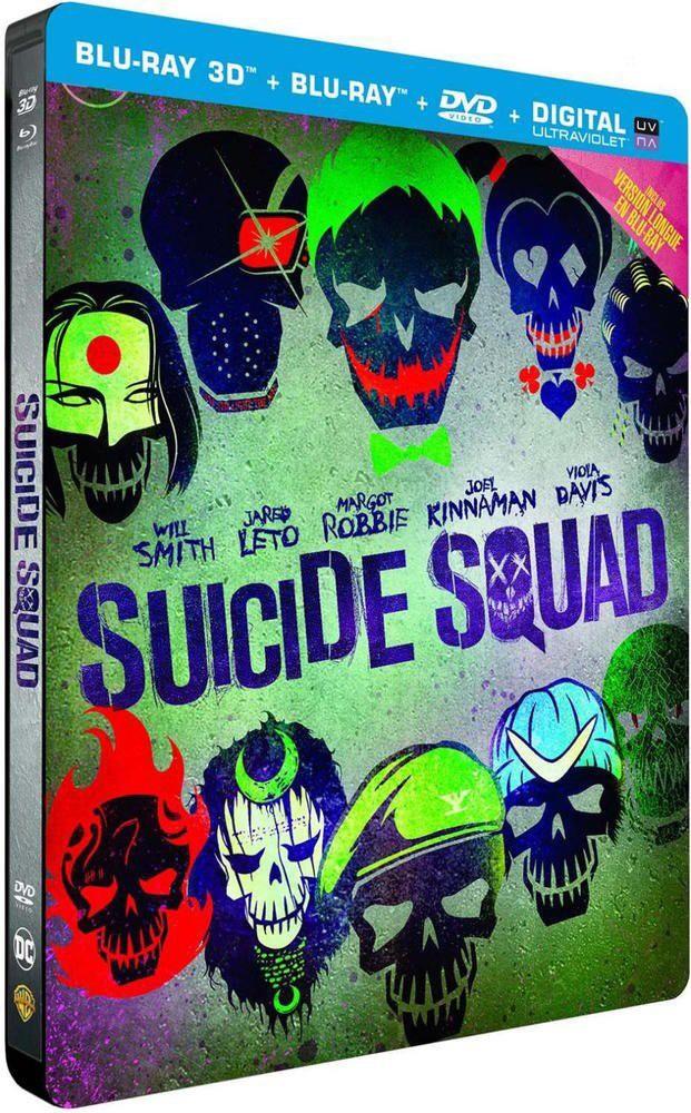 Sélection de Blu-ray Édition Steelbook en promotion - Ex : Suicide Squad Blu-ray 3D + 2D + DVD + Copie Digitale - Noz Poitiers (86)