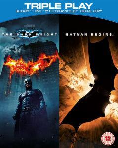 "Coffret 2 Blu-ray + DVD + Ultraviolet ""Batman The Dark Knight et Batman Begins"""
