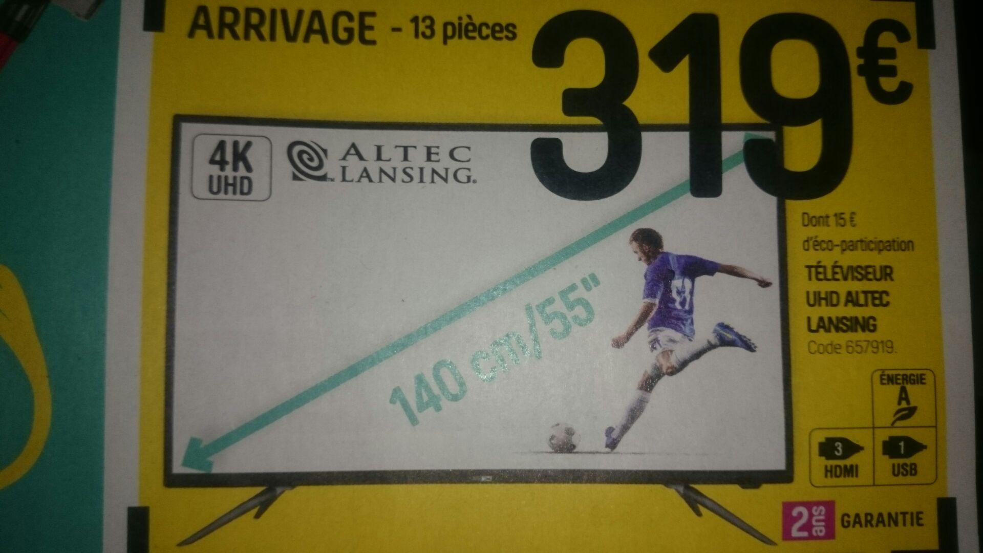 """TV 55"""" Altec Lansing - UHD 4K - Maison Dépôt Longeville-lès-Saint-Avold (57)"""