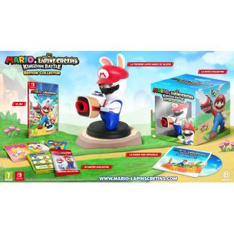 Jeu Mario et Les Lapins Crétins Kingdom Battle sur Nintendo Switch - Edition Collector avec porte clé Led