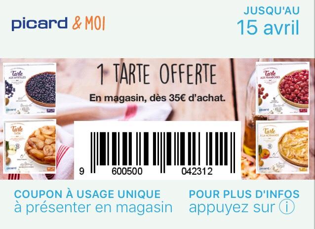 Une tarte picard au choix offerte dès 35€ d'achat