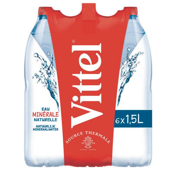 4 Packs de 6 Bouteilles d'eau Vittel - 24x1.5L