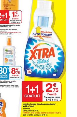 2 x Lessive liquide auto-doseur Xtra total 25 doses