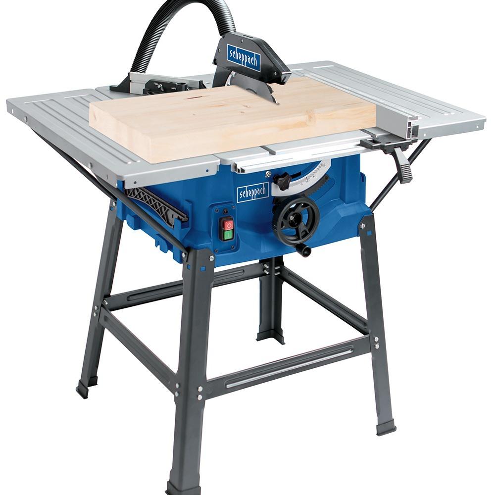 Scie sur table Scheppach 2000W - Ø250mm - Lame TCT + Extensions latérales