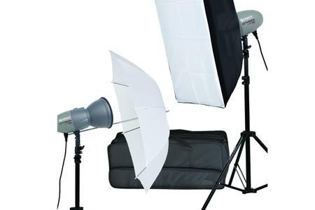 Kit Flash de studio compact Starblitz 2x200W Abeja 200 (Parapluie + Boîte à lumière)