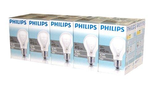 Lot de 10 ampoules Phillips E27 Transparent - 40 W - Classe énergétique E (vendeur tiers)