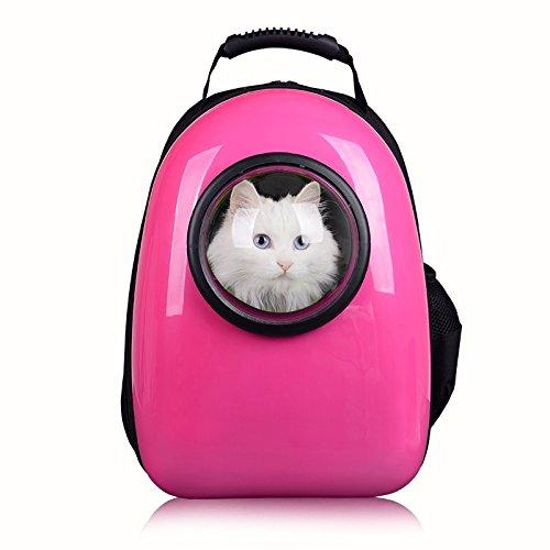 Sac à dos pour transport de chiens/chats Petcomer - Rose
