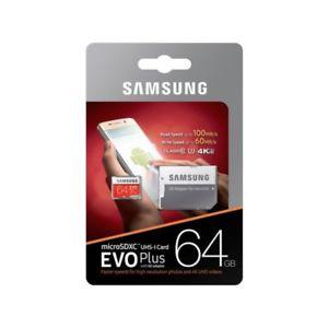 Carte Micro SDXC Samsung Evo Plus UHS-I U3 - 64 Go + adaptateur
