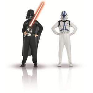 Pack de 2 déguisements enfants 5/7 ans - STAR WARS Dark Vador & Clone Trooper