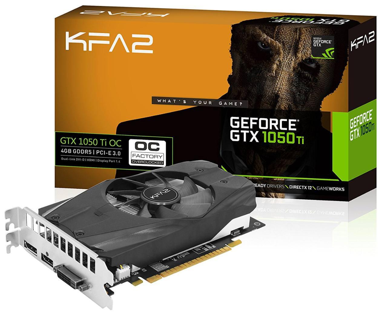 Carte graphique KFA2 GeForce GTX1050 Ti OC - 4 Go