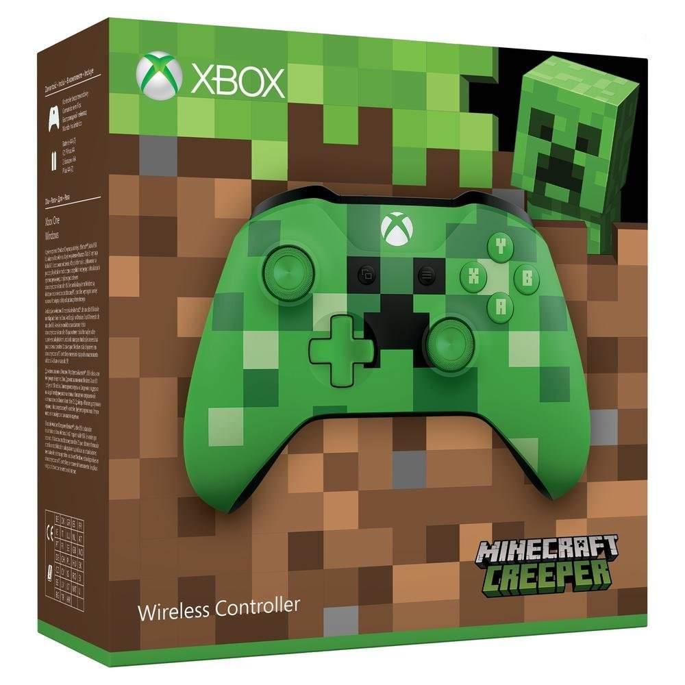 [Prime Jeunes] 15€ de réduction sur une sélection de Manettes Sans-fil Microsoft Xbox One - Ex : Edition Creeper à 34,99€