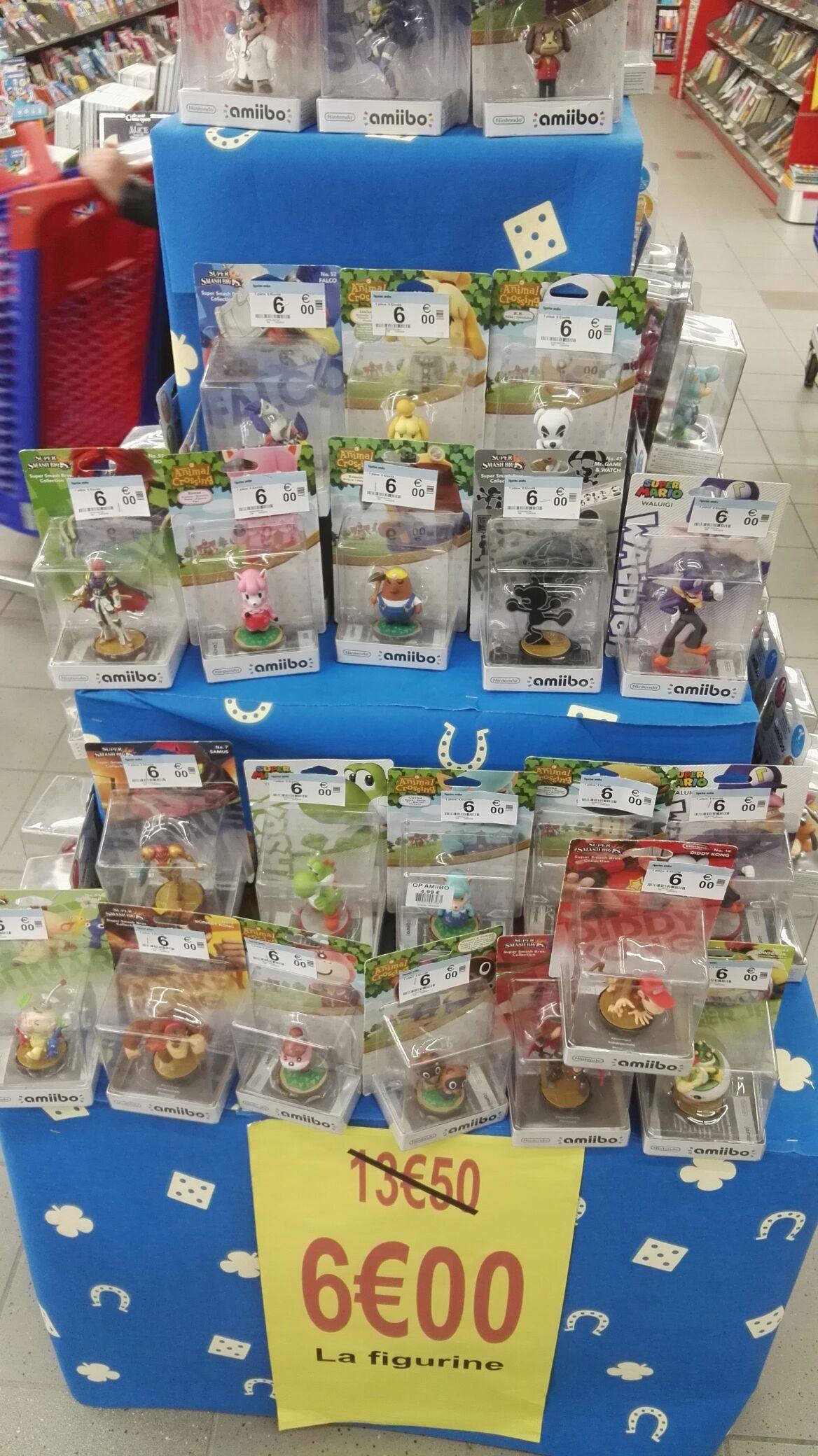 Sélection de figurines Nintendo Amiibo à 6€ - Carrefour de Cusset (03)