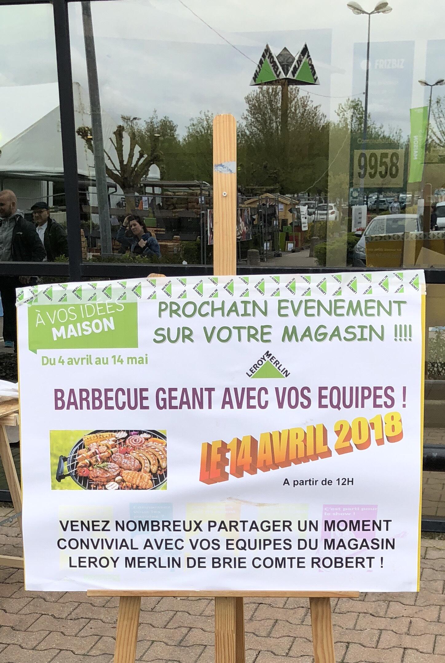 Barbecue offert en Magasin à partir de 12h (Brie-Comte-Robert 77)