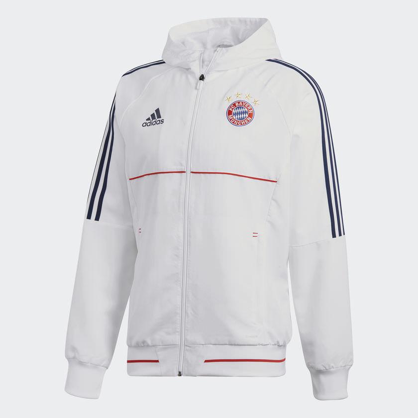 Veste de présentation Adidas FC Bayern Munich - Blanc et Rouge