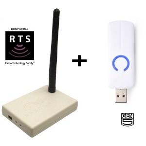 Pack Duo Rcepteur RFXtrx433E USB + Contrôleur Clef USB Z-Stick Aeon LabS Z-Wave (Atisys-domotique.fr)
