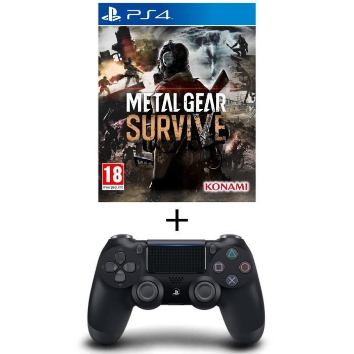 Manette DualShock 4 V2 + Jeu Metal Gear Survive sur PS4