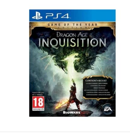 Jeu Dragon Age Inquisition GOTY sur PS4 (vendeur tiers)