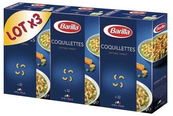 Sélection de Produits en Promotions - Ex : 3 Paquets de Pâtes Barilla 3x500g (via BDR)
