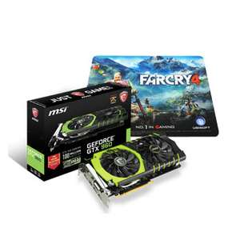 Carte graphique MSI GeForce GTX 960 Gaming 100ME- 2 Go  +  Souris  MSI Souris Interceptor DS200 + tapis de souris + jeu PC The Witcher 3