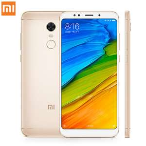 "Smartphone 5.99"" Xiaomi Redmi 5 Plus Global (Or) - Full HD+, Snapdragon 625, RAM 4 Go, ROM 64 Go, 4000 mAh, 4G (B20)"