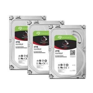 "Lot de 3 disques durs 3,5"" pour NAS Seagate IronWolf 4 To, 5900rpm, 64 Mo, SATA 6 Gb/s"